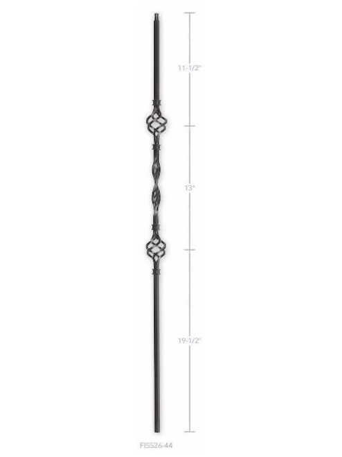 FIH5526-44 Hollow Two Baskets One Ribbon Baluster
