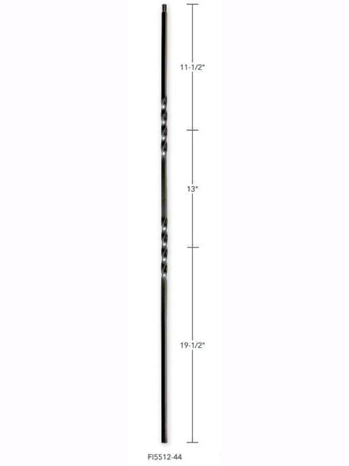FIH5512-44 Hollow Double Twist Baluster