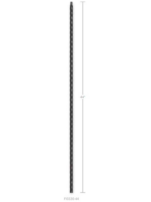 FI5530-44 Hammered & Scalloped Straight Bar Iron Baluster