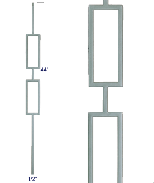 M438 Double Square Panel Liberty Baluster