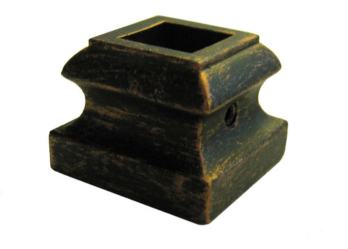 "HF16.3.19 Light Flat Shoe for 1/2"" (12mm) Balusters; Oil Rubbed Bronze Pictured"