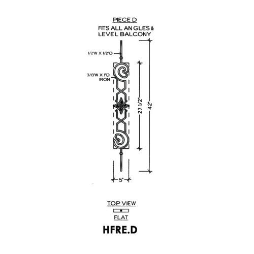 HFRE.D Regency Baluster Panel