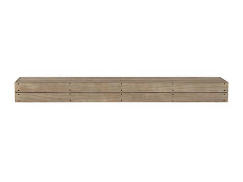 The Cades Pallet Fireplace Mantel Shelves (1), Fontana Finish