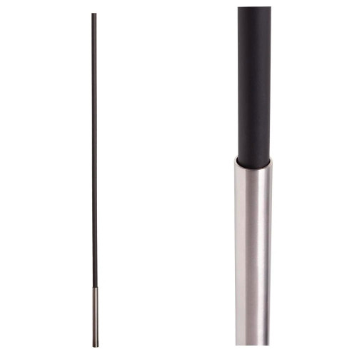 SoHo - Stainless Steel Base on Satin Black Baluster (17.4.1) One Sleeve