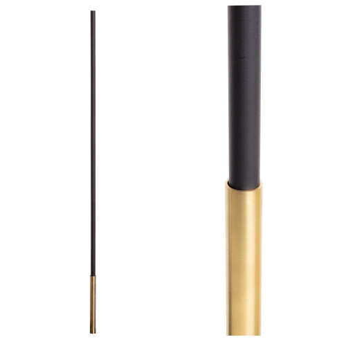 SoHo - Brass Base on Satin Black Baluster (18.4.1) One Sleeve