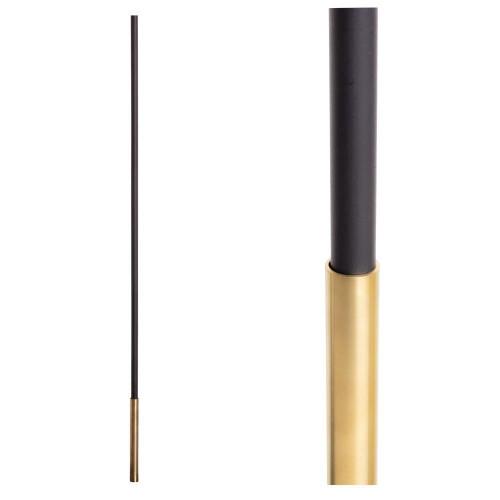 SoHo - Brass Base on Satin Black Baluster (18.4.1) One Sleeve