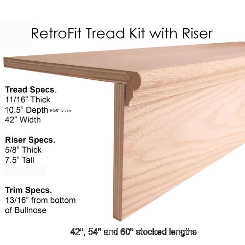 Retro-Fit Stair Treads with Riser