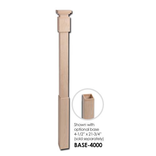 4400 Modern Newel Post with Optional Base