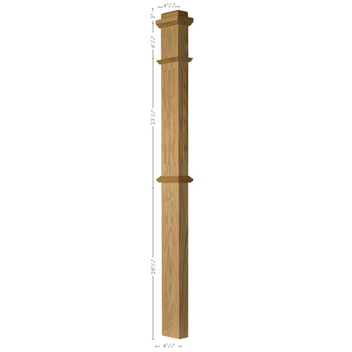 F-4375 HALF-SAWN Box Newel Post