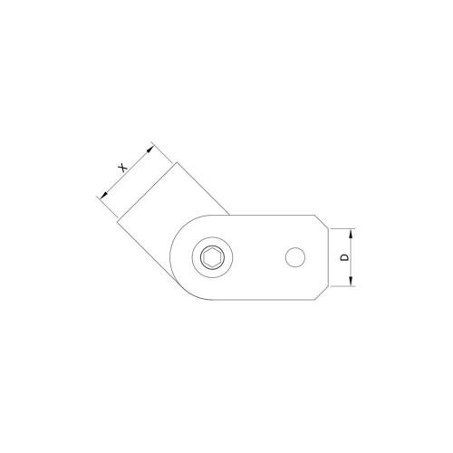 12 mm Round Bar Inline Holder for Flat Mount CADD