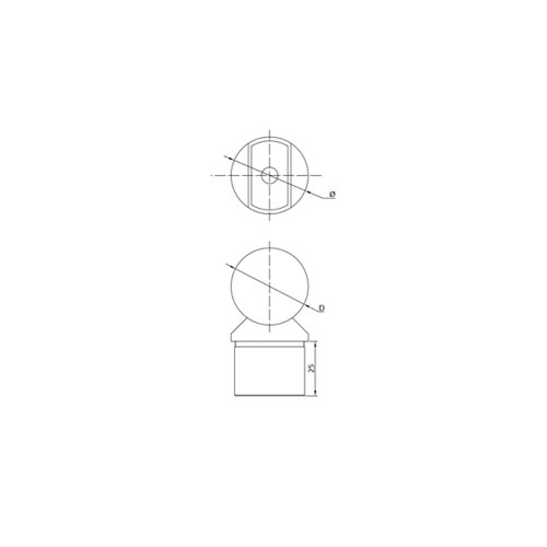 42.4 mm Post Handrail Support – Beveled / Coped CADD