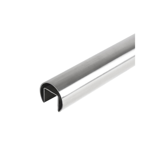 Round Glass Cap Rail – 42.4 mm x 5000 mm (AX00.030.065.A.SP)