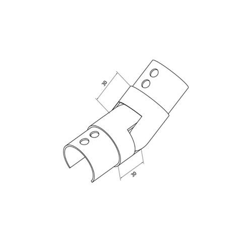 Round Glass Cap Rail Adjustable Fitting Upward (CADD)