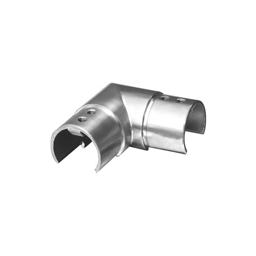 Round Glass Cap Rail Horizontal 90 Fitting (AX00.032.170.A.SP)