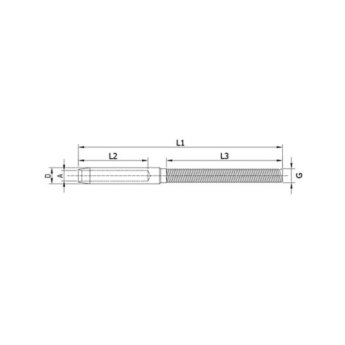 Left Handed Cable Terminal Stud ( SX ) (CADD)