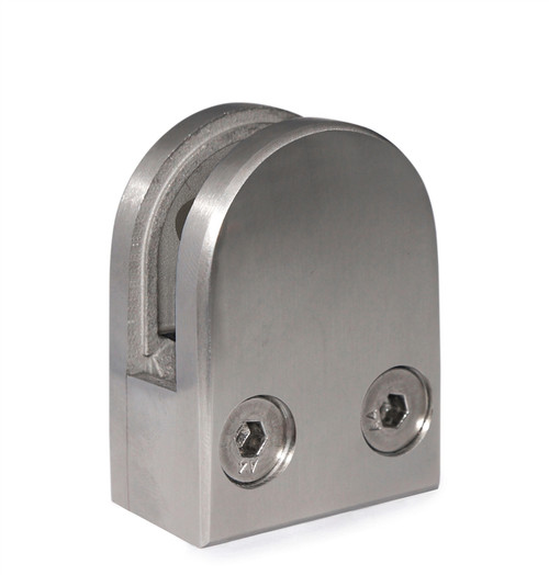 """E11000000 Stainless Steel Glass Clamps 1 9/16"""" x 1 15/16"""" for Flat Tube"""