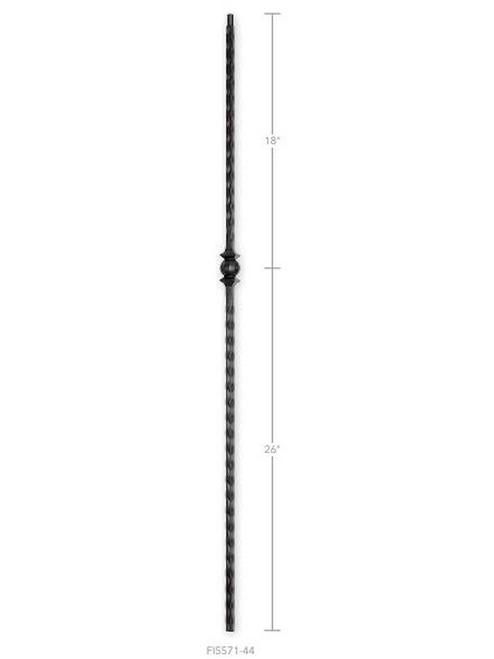 Hammered Single Ball Iron Baluster