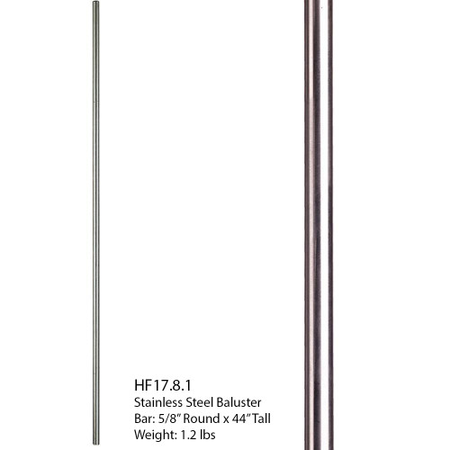 HF17.8.1 Round Stainless Steel Tubular Plain Bar (2)