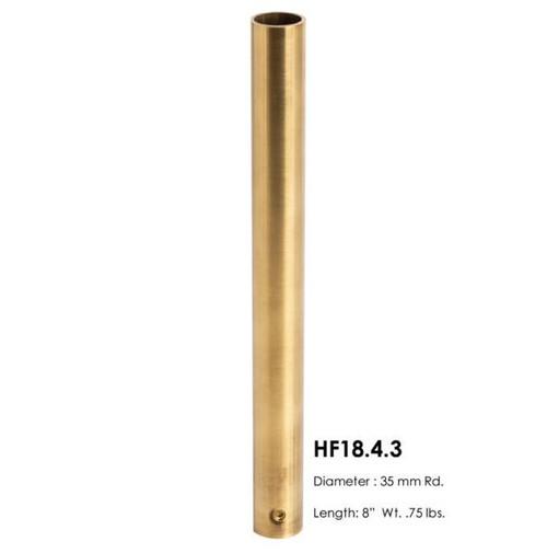 HF18.4.3 Round Newel Post Sleeve, Brass