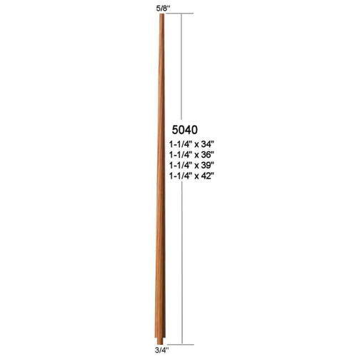 "5040 39"" Colonial Pin Top Baluster"