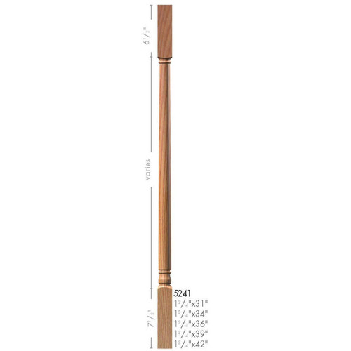 "5241 39"" Colonial Square Top Baluster"