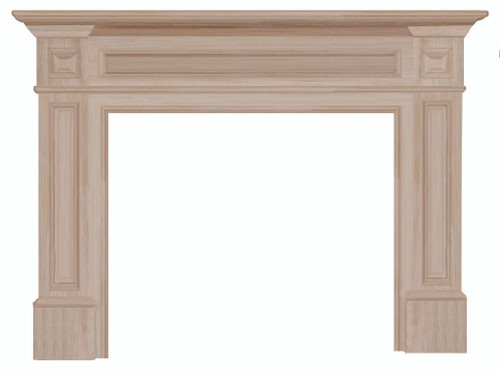 "The Classique Fireplace Mantel Surround, 56"" (140-56), Unfinished"