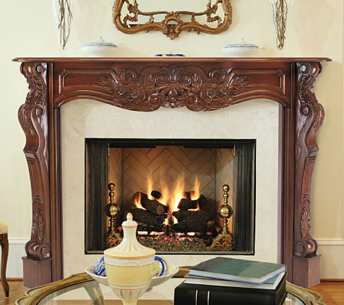 The Deauville Fireplace Mantel Surround, Fruitwood Finish