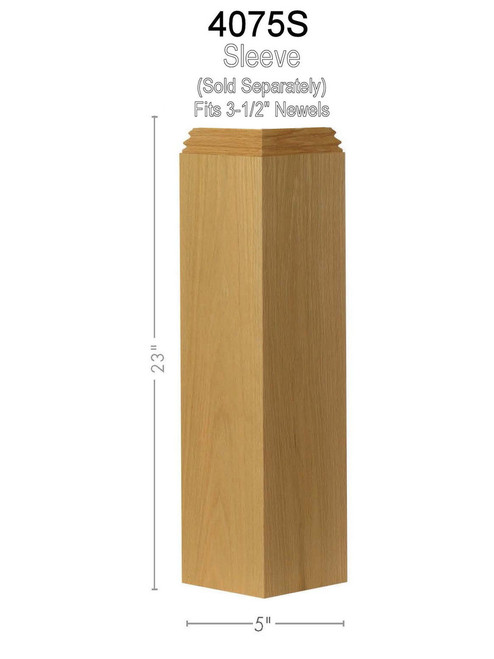 4075 Box Newel Pedestal/Sleeve Dimensional Information