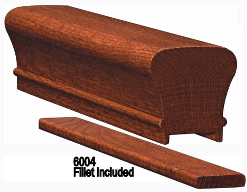 6010P Plowed Handrail Red Oak