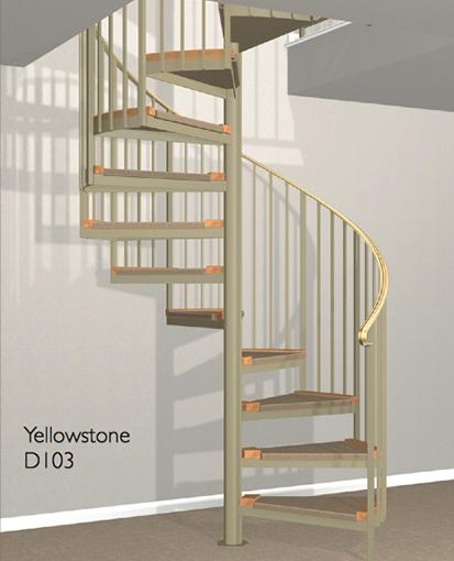 D103 Crown Heritage Metal Spiral Staircase