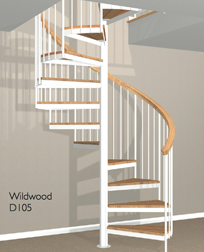 D105 Crown Heritage Metal Spiral Staircase