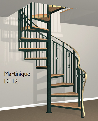 D112 Crown Heritage Metal Spiral Staircase