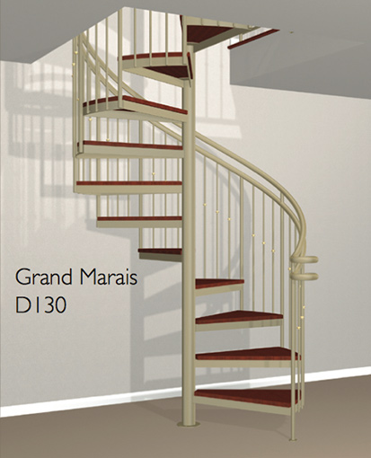 D130 Crown Heritage Metal Spiral Staircase