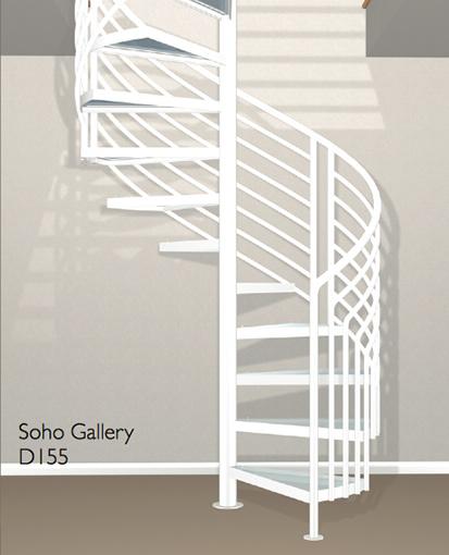 D155 Crown Heritage Metal Spiral Staircase