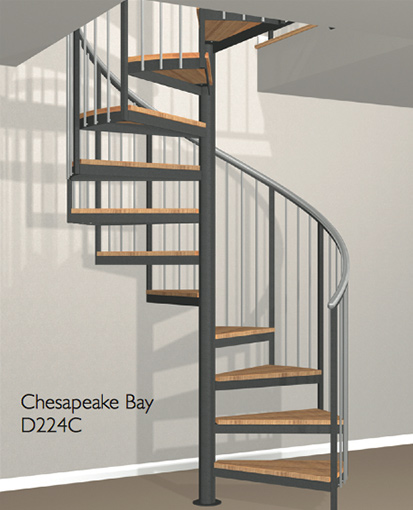 D224c Crown Heritage Metal Spiral Staircase