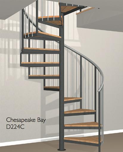 D224c Crown Heritage Metal Spiral Staircase