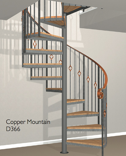D366 Crown Heritage Metal Spiral Staircase