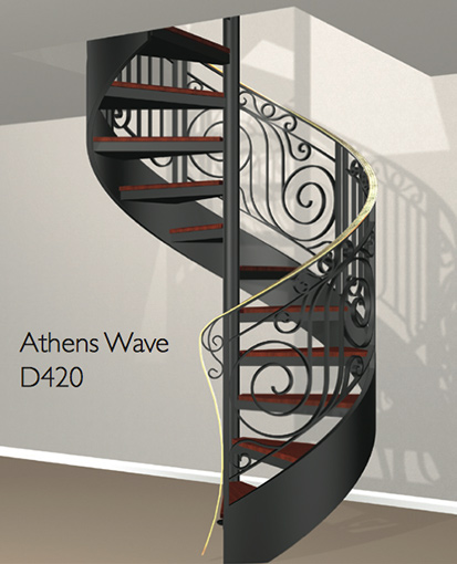 D420 Crown Heritage Metal Spiral Staircase
