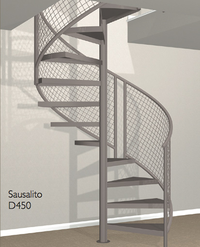 D450 Crown Heritage Metal Spiral Staircase