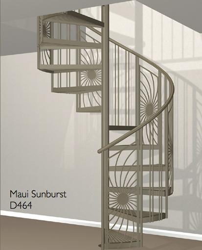 D464 Crown Heritage Metal Spiral Staircase