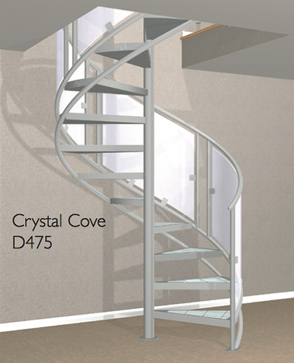 D475 Crown Heritage Metal Spiral Staircase