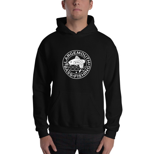 Largemouth Bass Fishing, Hooded Sweatshirt