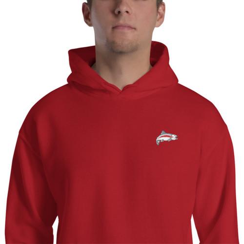 Mannish Fishing, Embroidered, Hooded Sweatshirt