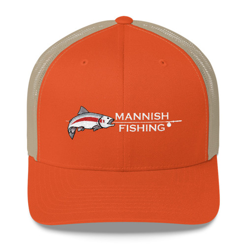 Mannish Fishing, Single Rod, Trucker Cap