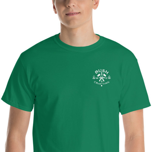 Bushcrafting, Mini Logo, Embroidered Short-Sleeve T-Shirt
