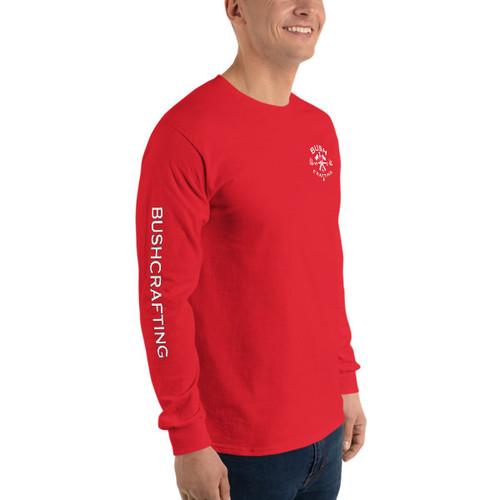 Bushcrafting, Mini Logo, Long Sleeve T-Shirt