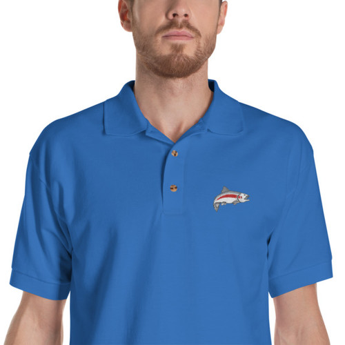 Mannish Fishing, Embroidered, Polo Shirt