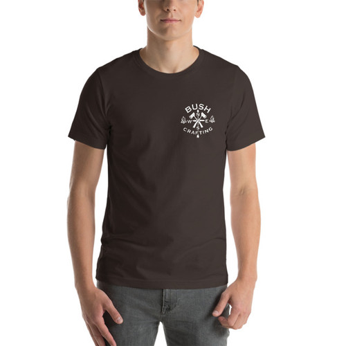 Bushcrafting, Mini Logo, Short-Sleeve T-Shirt