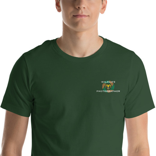 Wildlife Photographer, Embroidered, Short-Sleeve T-Shirt
