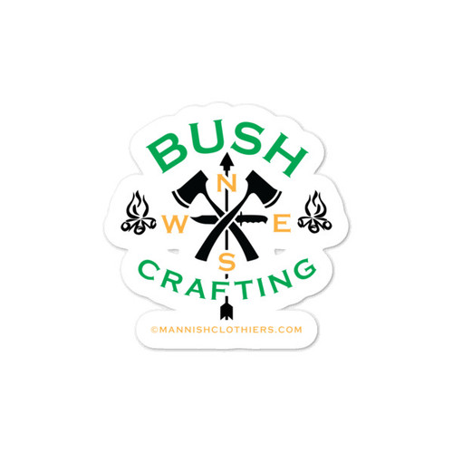 Bushcrafting, Vinyl Sticker